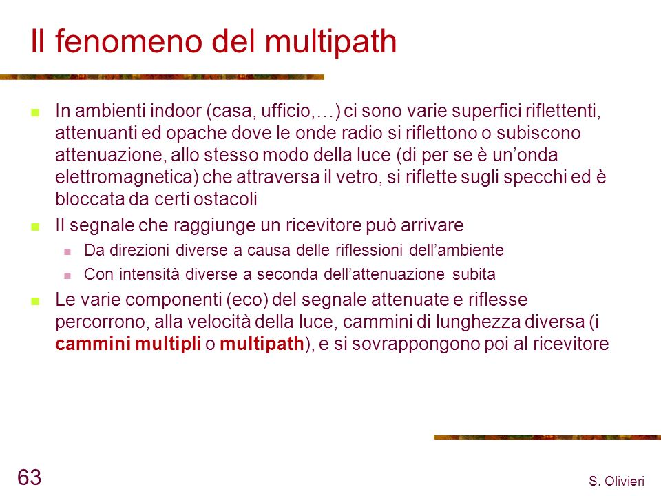 Il fenomeno del multipath