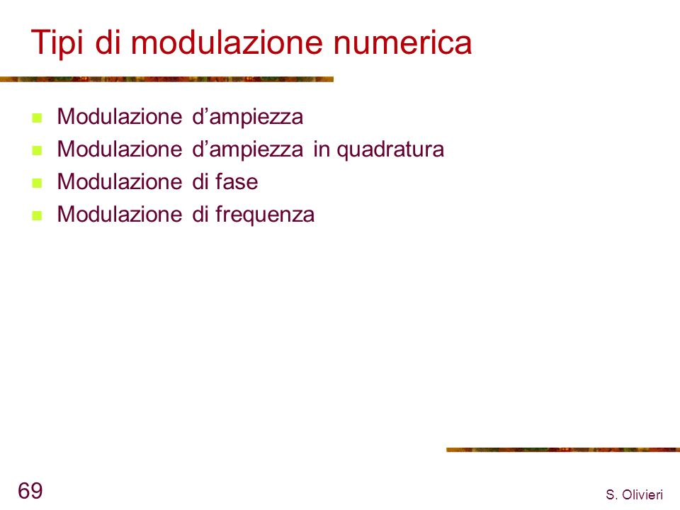 Tipi di modulazione numerica