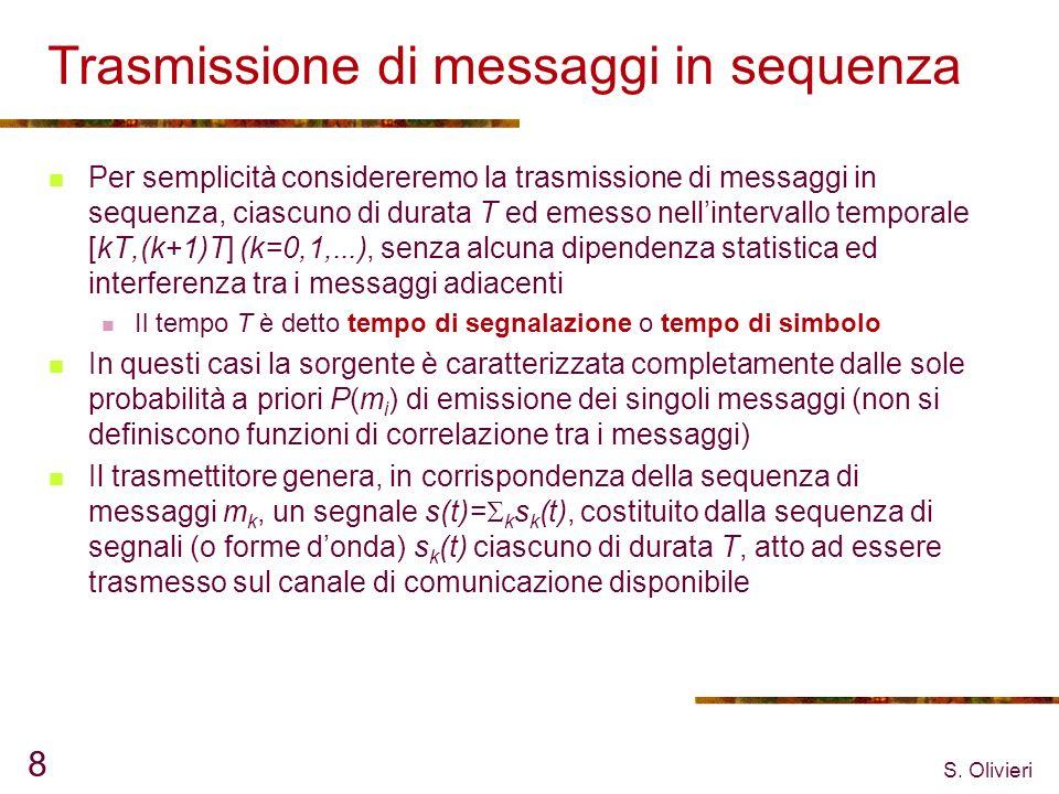 Trasmissione di messaggi in sequenza