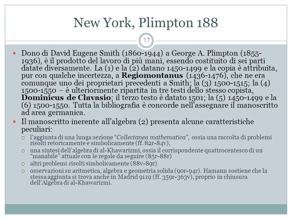 New York, Plimpton 188
