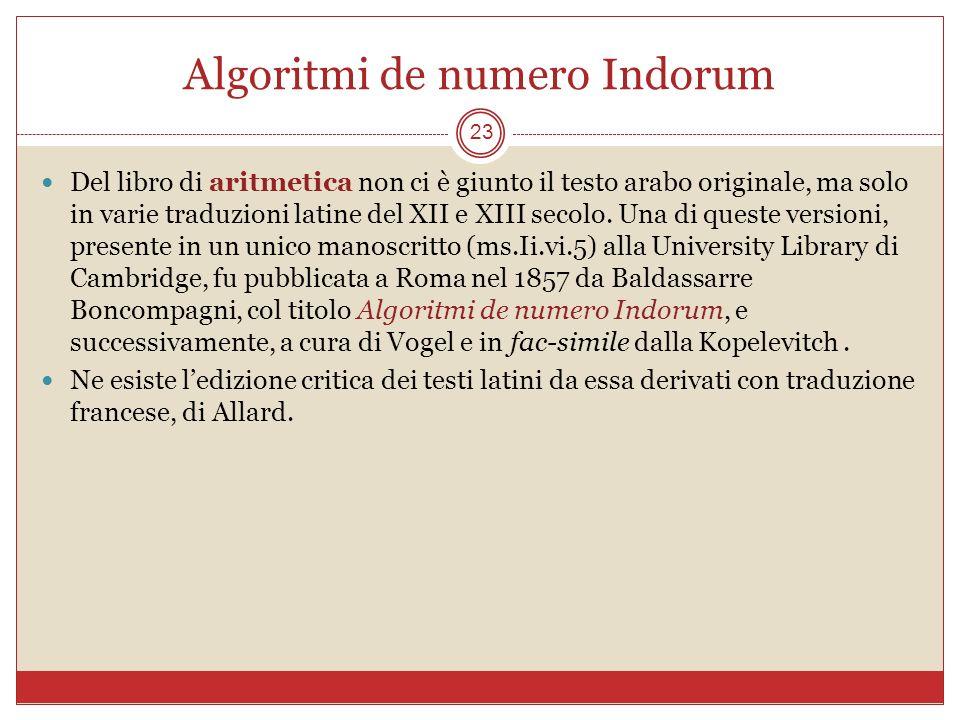 Algoritmi de numero Indorum