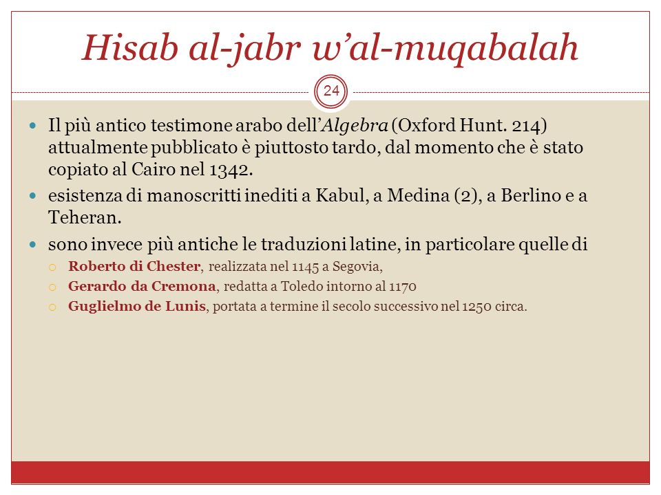 Hisab al-jabr w'al-muqabalah