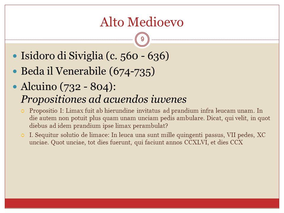 Alto Medioevo Isidoro di Siviglia (c. 560 - 636)