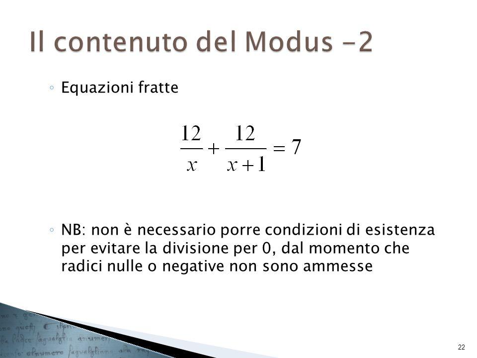 Il contenuto del Modus -2