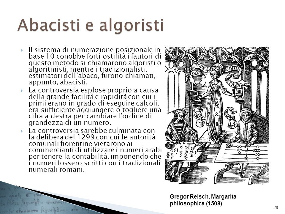Abacisti e algoristi