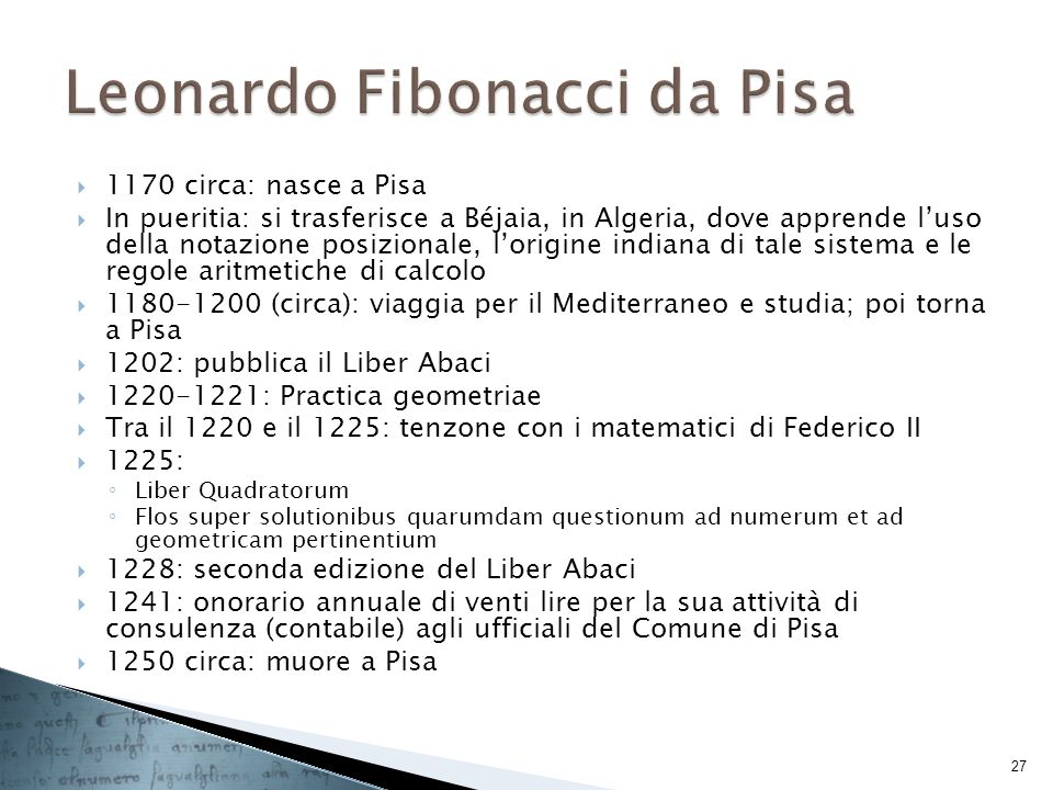 Leonardo Fibonacci da Pisa