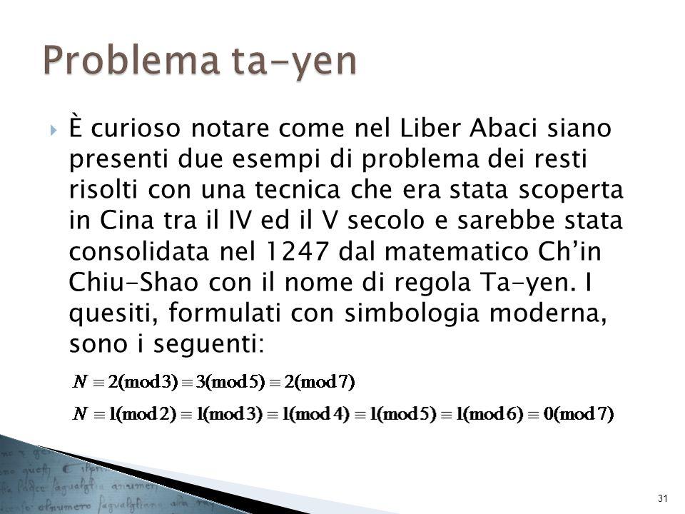 Problema ta-yen