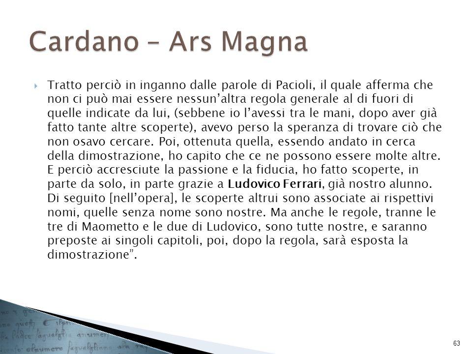 Cardano – Ars Magna