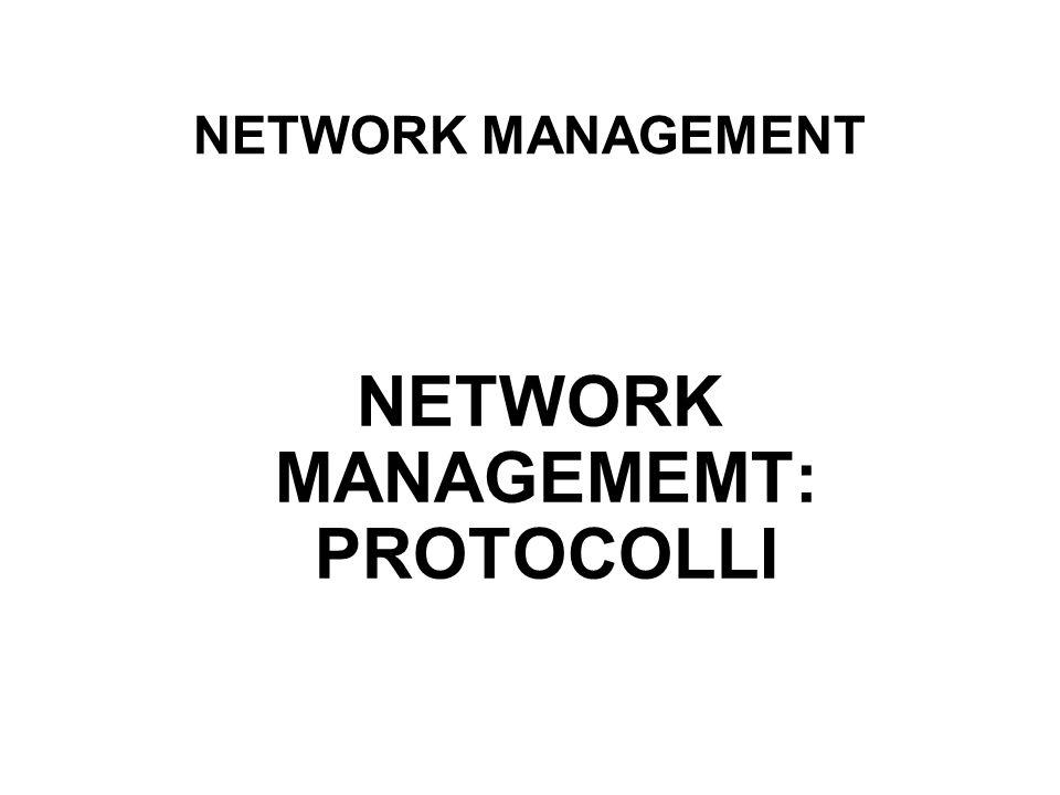 NETWORK MANAGEMEMT: PROTOCOLLI