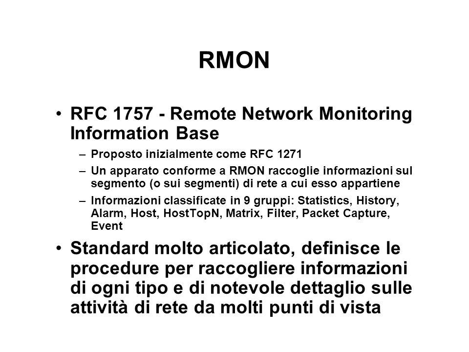 RMON RFC 1757 - Remote Network Monitoring Information Base