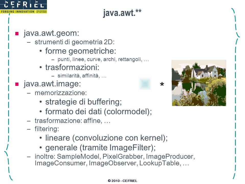* java.awt.** java.awt.geom: forme geometriche: trasformazioni: