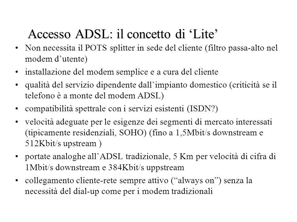 Accesso ADSL: il concetto di 'Lite'