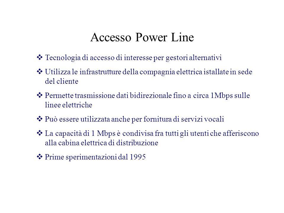 Accesso Power Line Tecnologia di accesso di interesse per gestori alternativi.