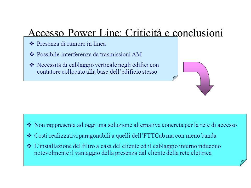 Accesso Power Line: Criticità e conclusioni