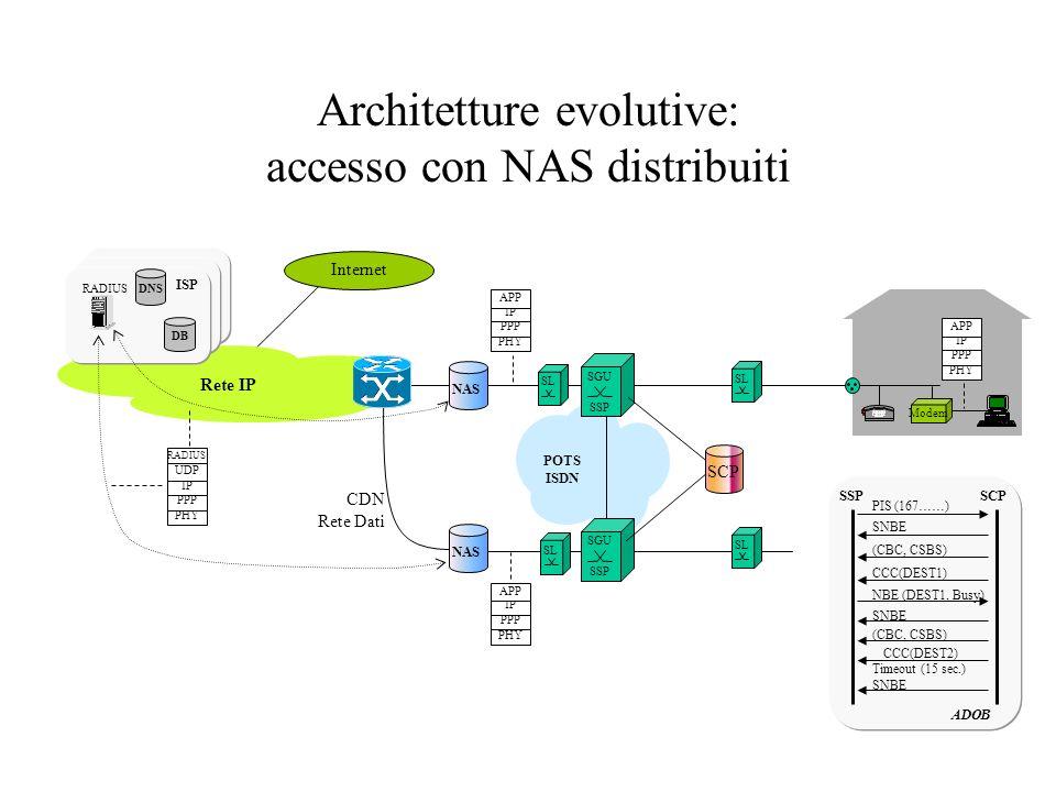 Architetture evolutive: accesso con NAS distribuiti