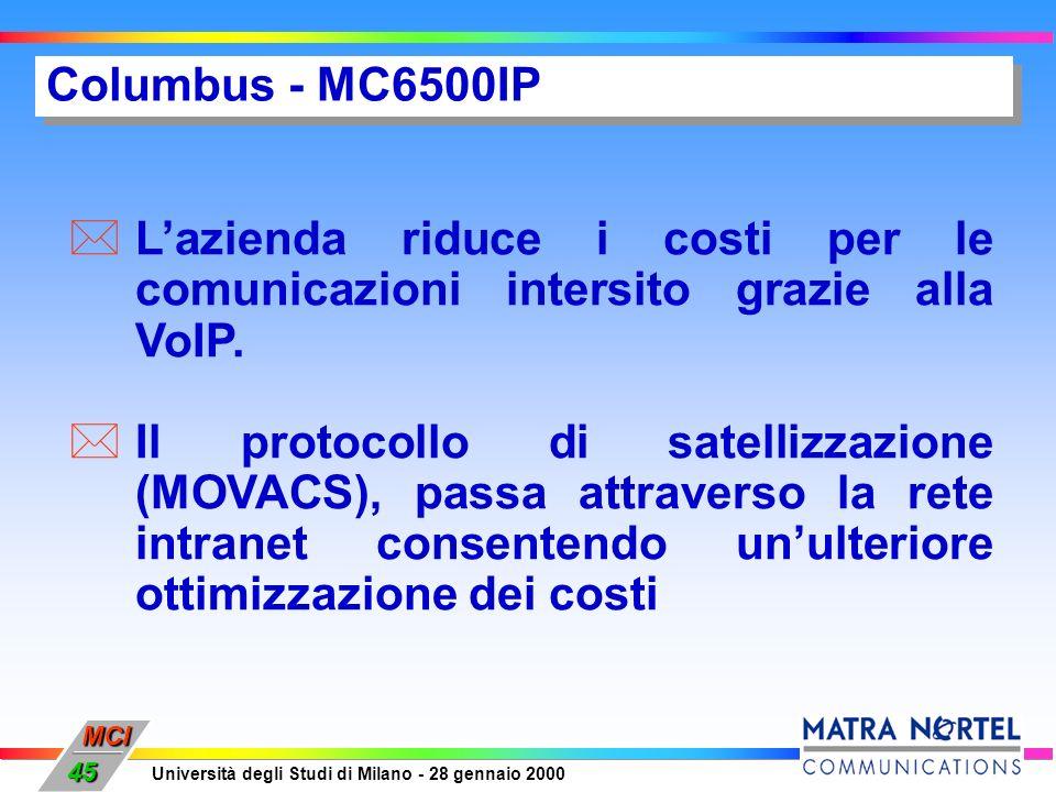 Columbus - MC6500IPL'azienda riduce i costi per le comunicazioni intersito grazie alla VoIP.
