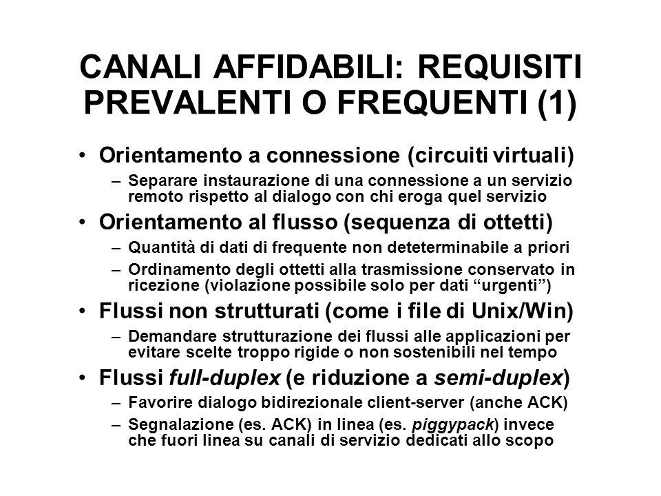 CANALI AFFIDABILI: REQUISITI PREVALENTI O FREQUENTI (1)