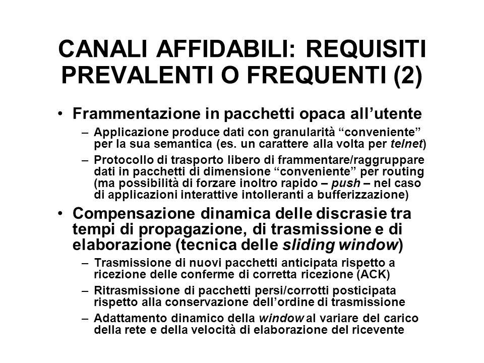 CANALI AFFIDABILI: REQUISITI PREVALENTI O FREQUENTI (2)