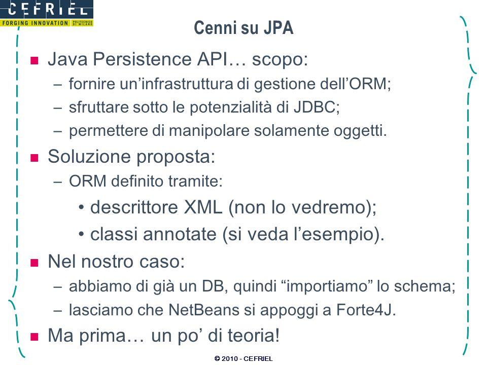 Java Persistence API… scopo: