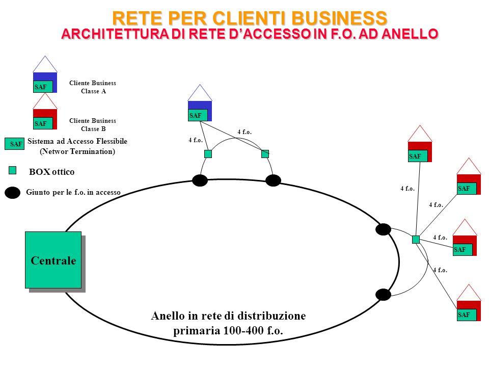RETE PER CLIENTI BUSINESS ARCHITETTURA DI RETE D'ACCESSO IN F. O