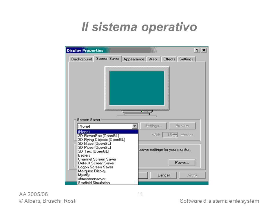 Il sistema operativo AA 2005/06 © Alberti, Bruschi, Rosti