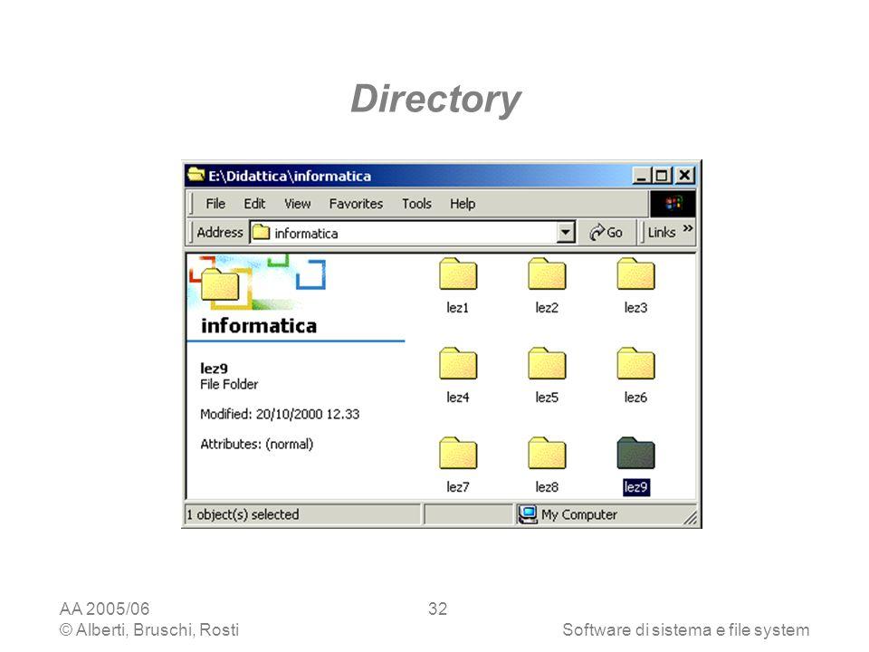 Directory AA 2005/06 © Alberti, Bruschi, Rosti