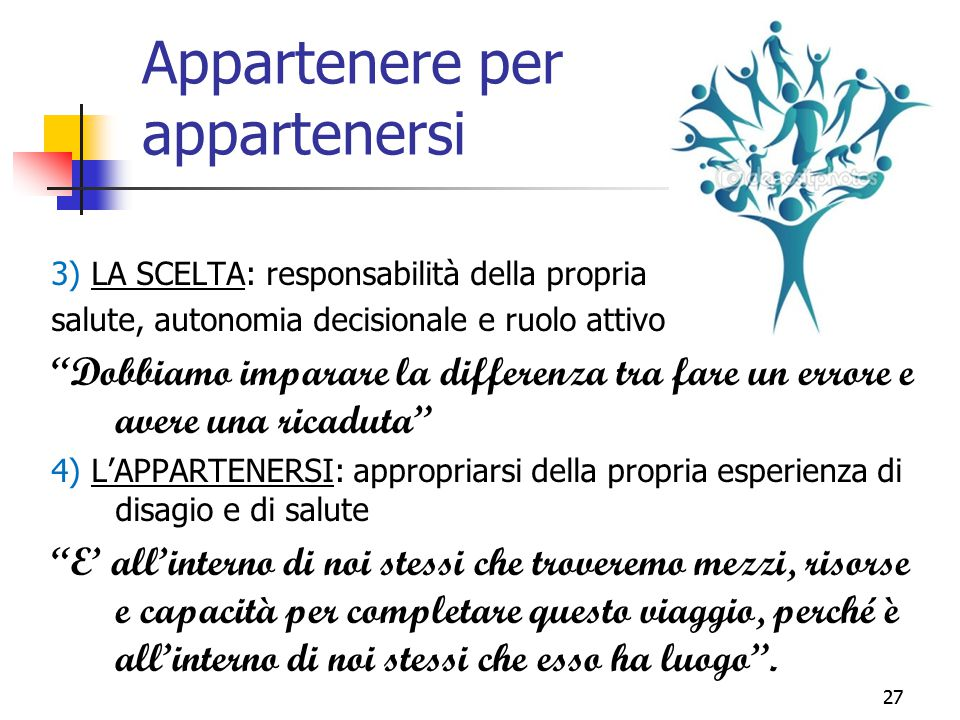 Appartenere per appartenersi