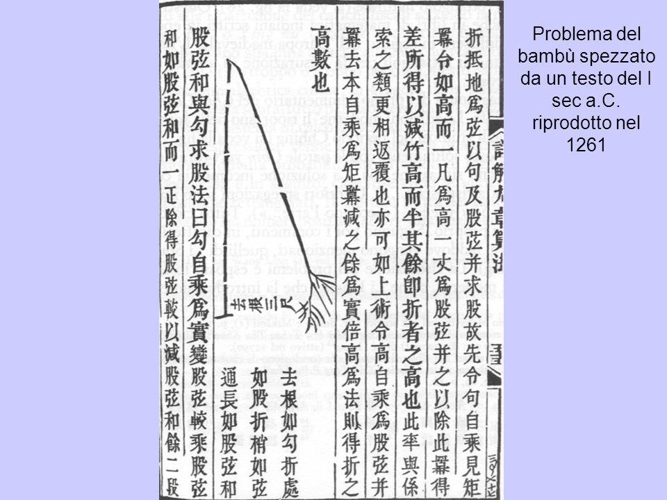 Problema del bambù spezzato da un testo del I sec a. C