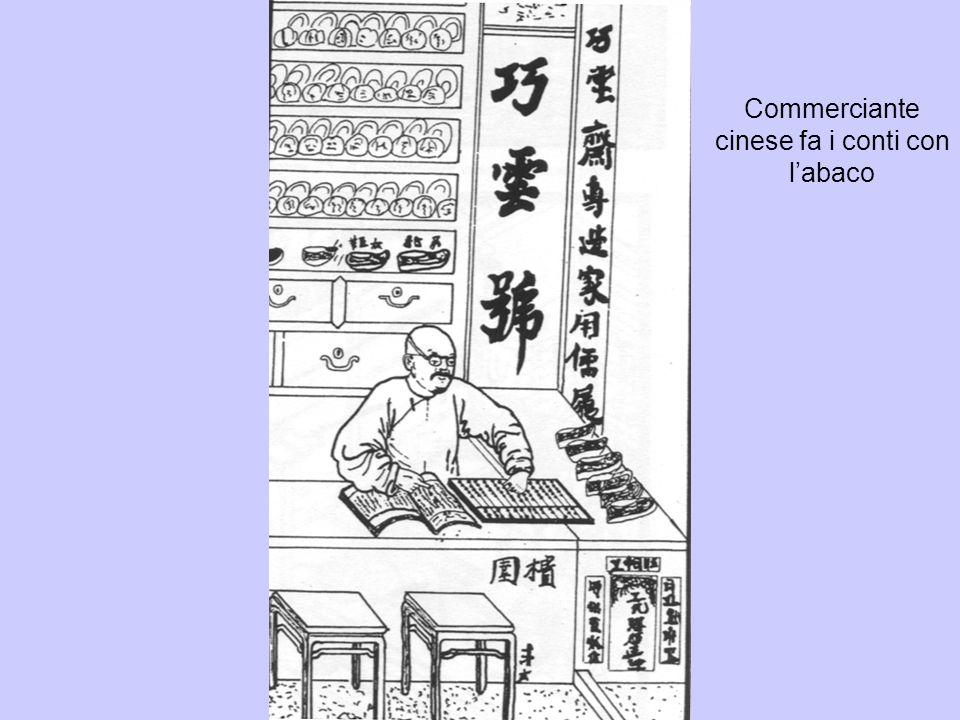 Commerciante cinese fa i conti con l'abaco