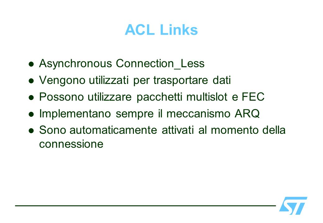 ACL Links Asynchronous Connection_Less