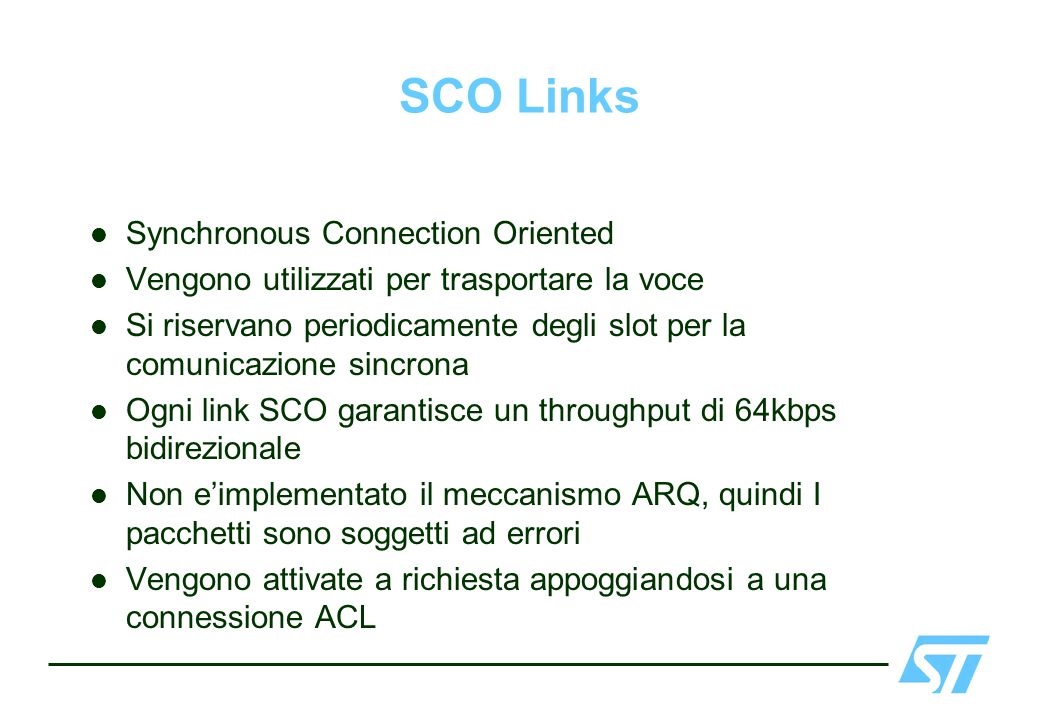SCO Links Synchronous Connection Oriented