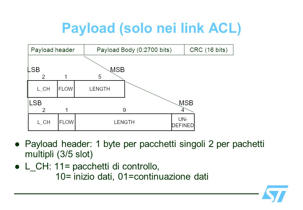 Payload (solo nei link ACL)