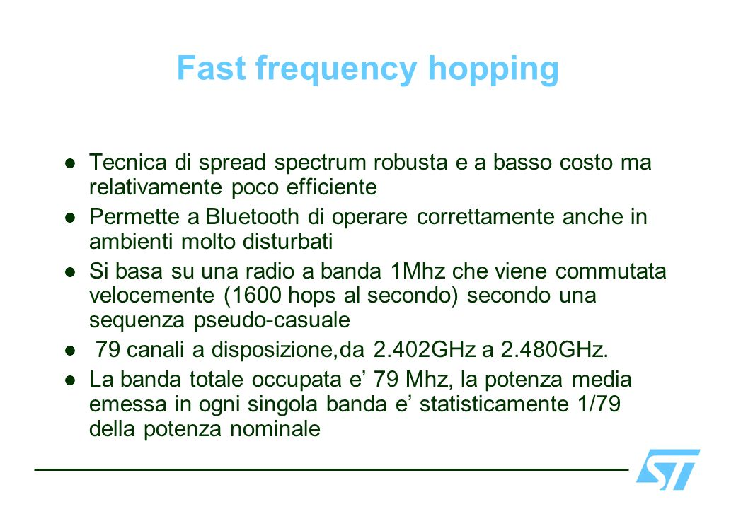 Fast frequency hopping