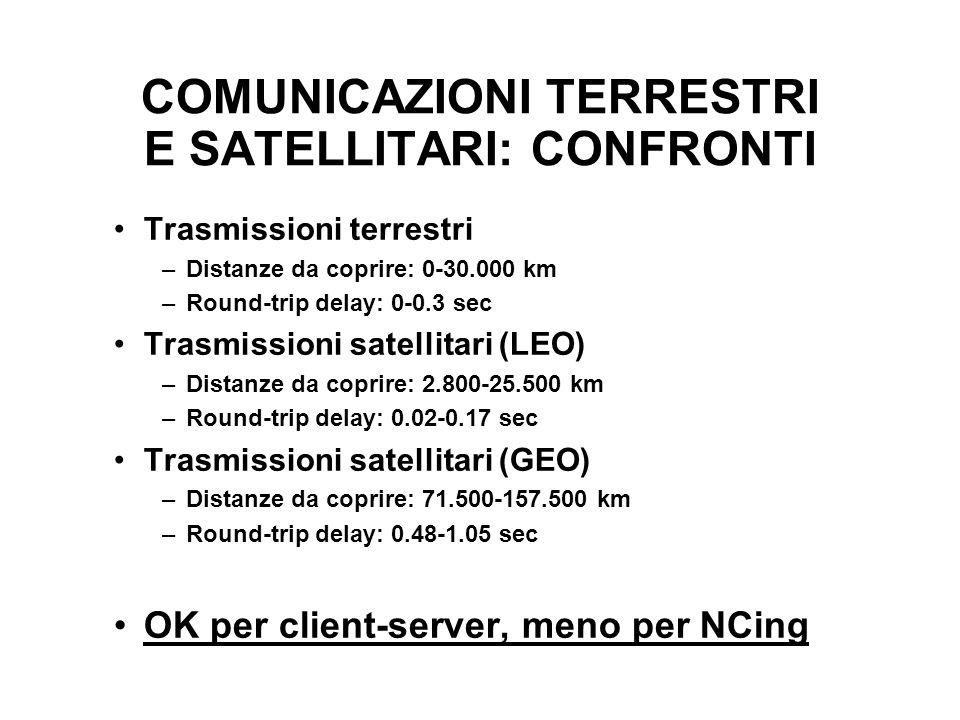 COMUNICAZIONI TERRESTRI E SATELLITARI: CONFRONTI