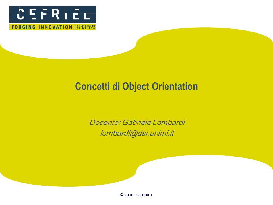 Concetti di Object Orientation