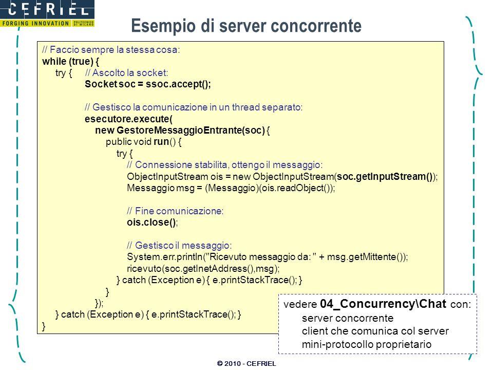 Esempio di server concorrente