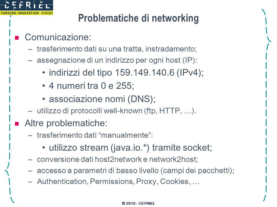 Problematiche di networking