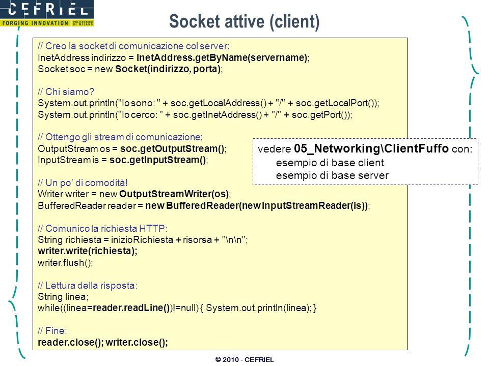 Socket attive (client)