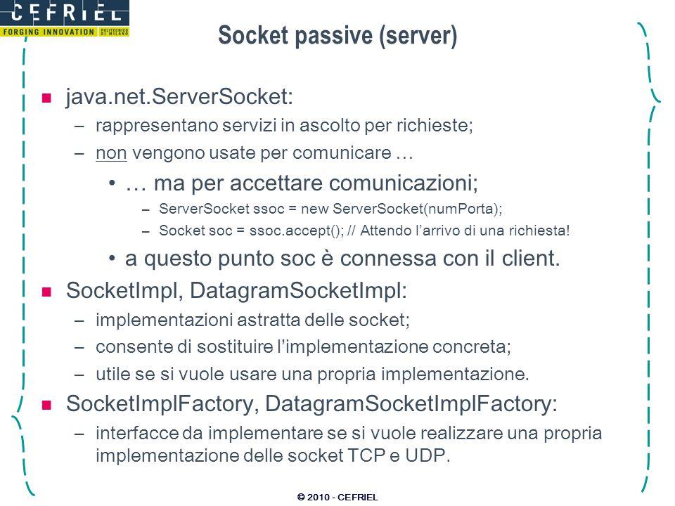Socket passive (server)