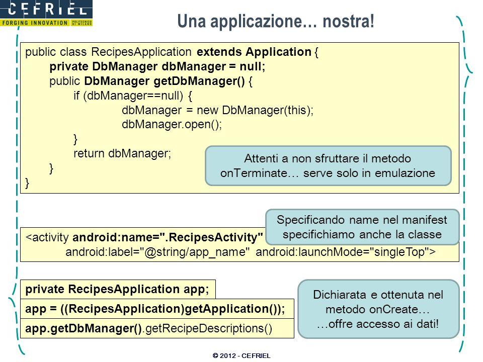 Una applicazione… nostra!