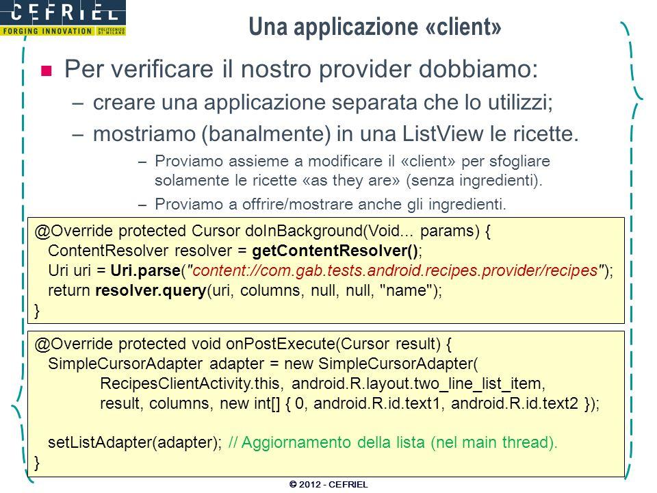 Una applicazione «client»