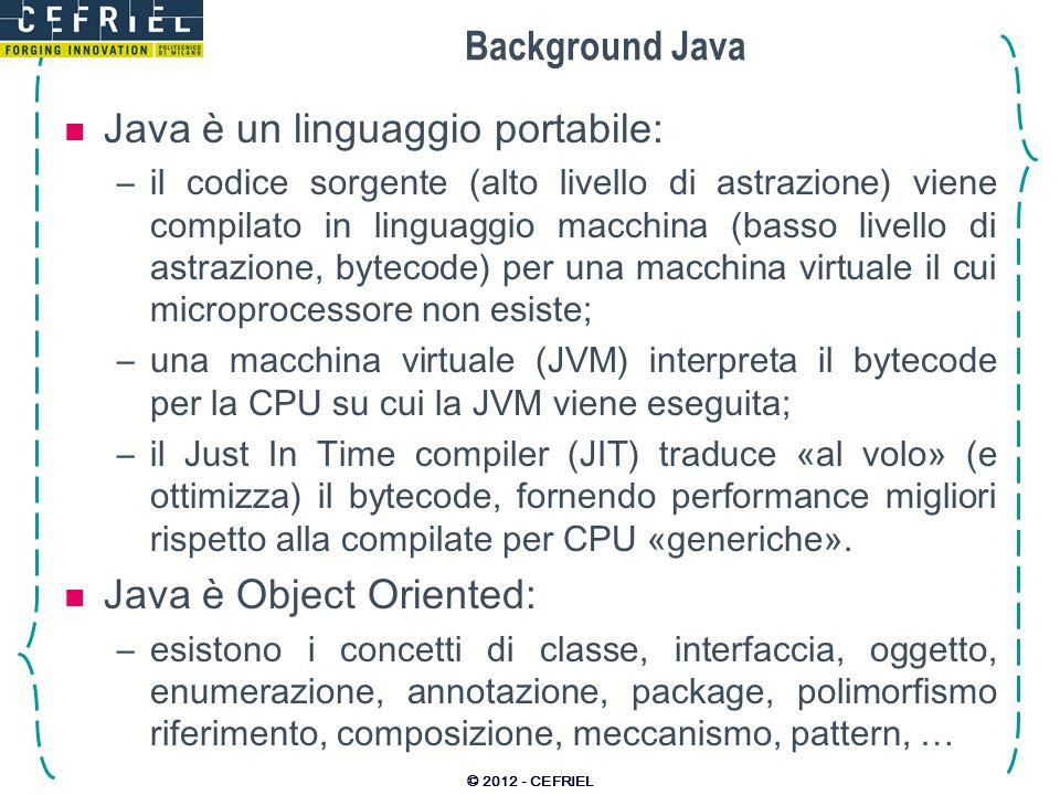 Java è un linguaggio portabile: