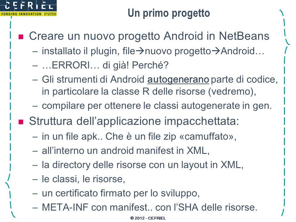 Creare un nuovo progetto Android in NetBeans