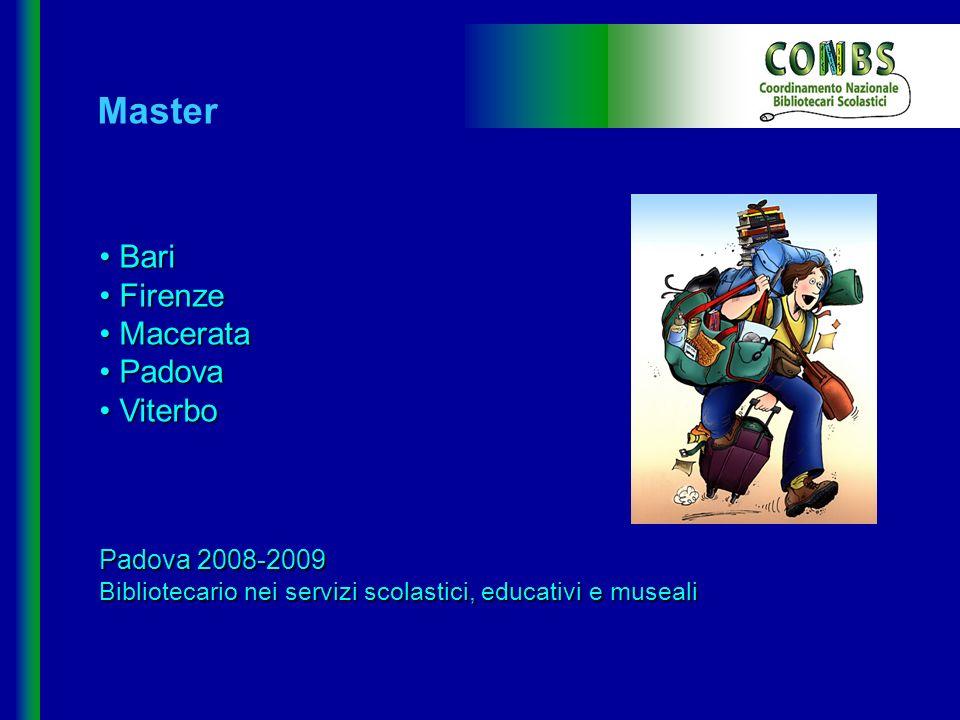 Master Bari Firenze Macerata Padova Viterbo Padova 2008-2009