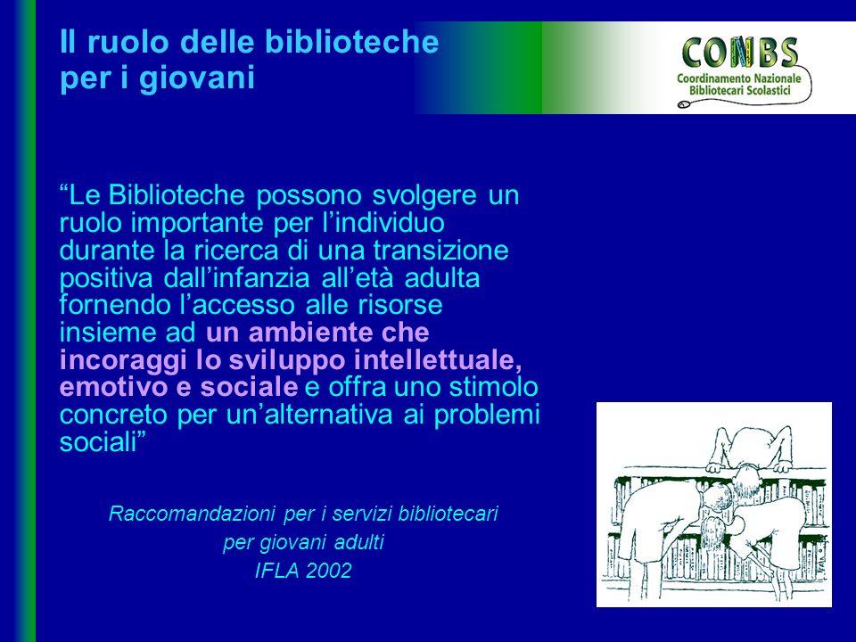 Il ruolo delle biblioteche per i giovani
