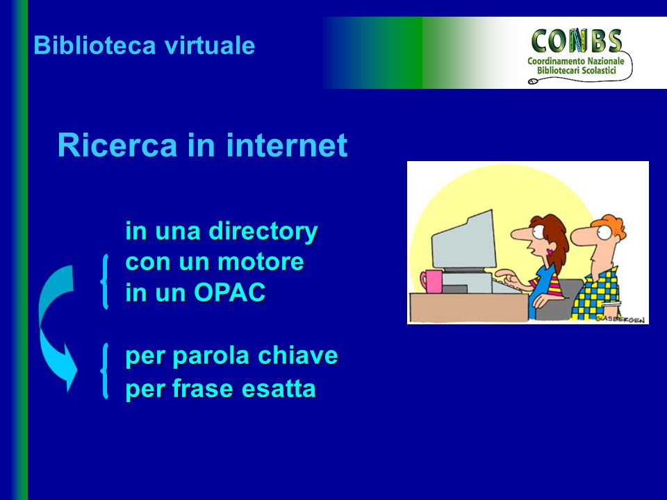 Ricerca in internet in una directory con un motore Biblioteca virtuale