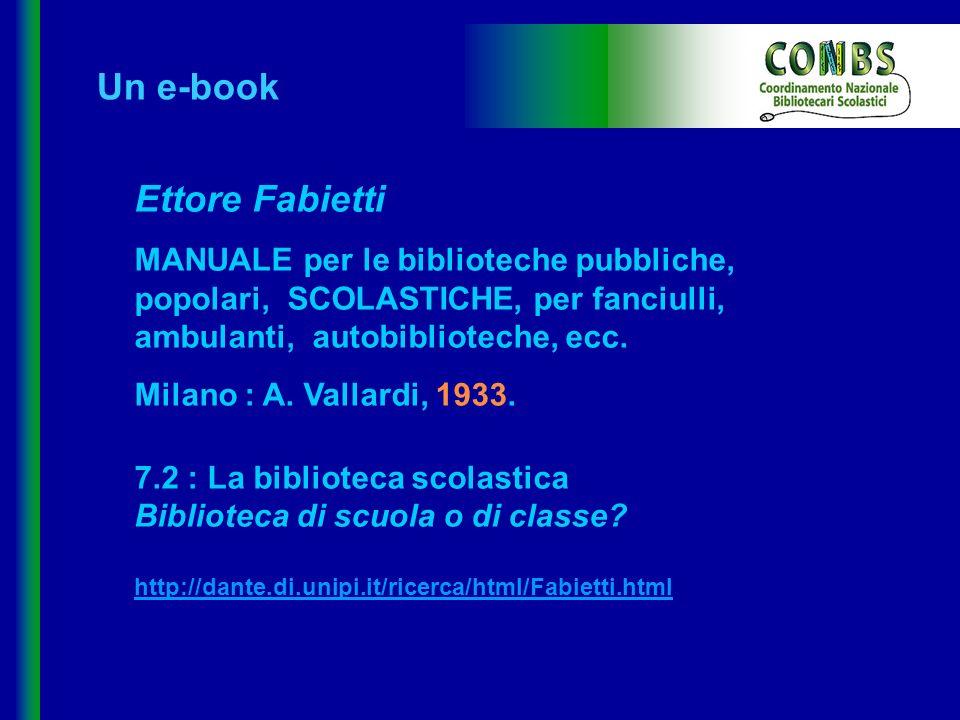 Un e-book Ettore Fabietti