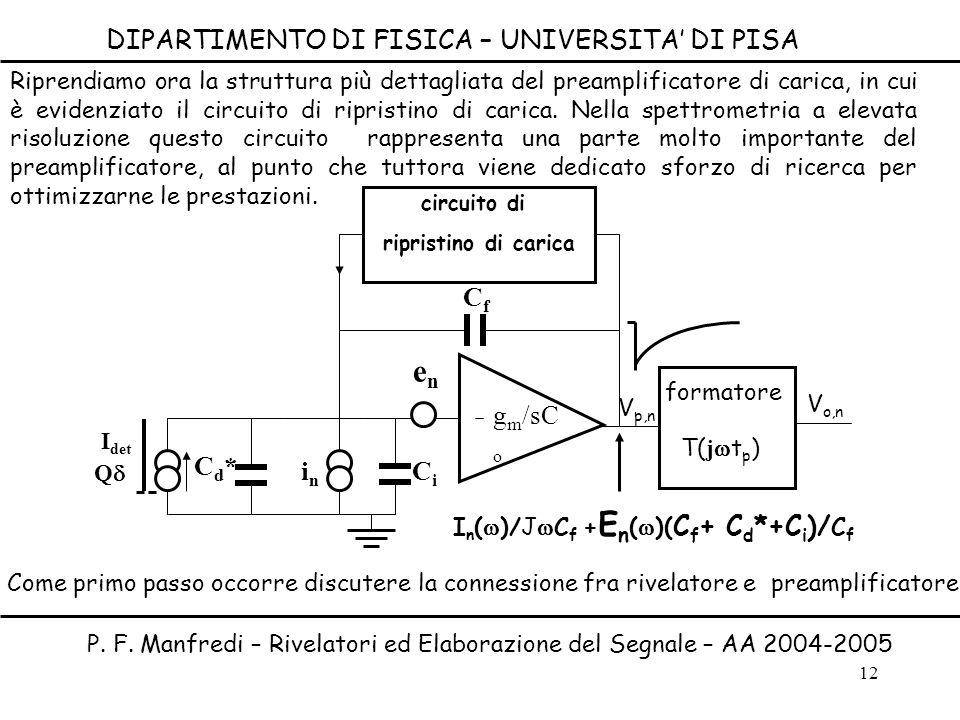 en T(jwtp) DIPARTIMENTO DI FISICA – UNIVERSITA' DI PISA Cf gm/sCo Cd*