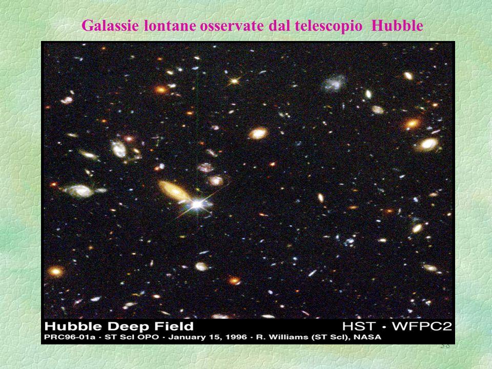 Galassie lontane osservate dal telescopio Hubble