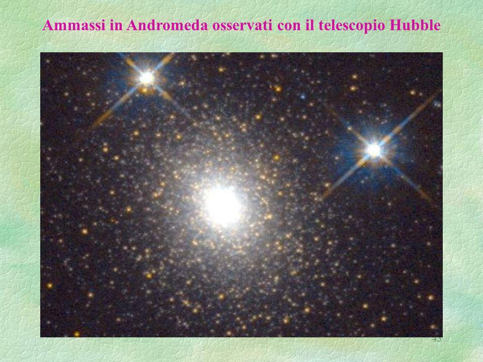 Ammassi in Andromeda osservati con il telescopio Hubble